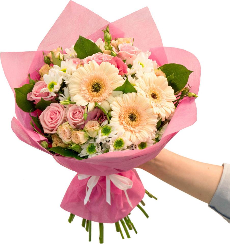 Простые букеты из цветов фото на марта